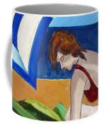 Woman On The Beach Coffee Mug