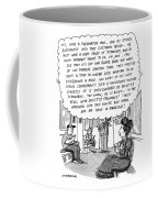 Woman On The Subway Has Lengthy And Descriptive Thoughts About A Man Across From Her. Coffee Mug
