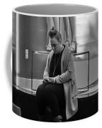 Woman Phone Night Coffee Mug