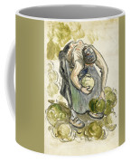 Woman Picking Cabbage Coffee Mug