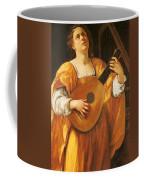 Woman Playing A Lute Coffee Mug