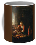 Woman Pouring Water Into A Jar Coffee Mug