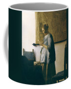 Woman Reading A Letter Coffee Mug by Jan Vermeer