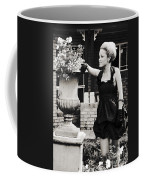 Woman Relaxing In Garden Coffee Mug