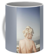 Woman Relaxing On The Beach Coffee Mug