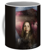 Woman Resilient In Storm Through Positive Thinking Coffee Mug