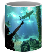 Woman Shark Enjoyng Coffee Mug