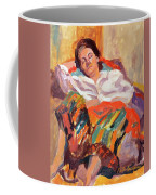 Woman Sleeping Coffee Mug