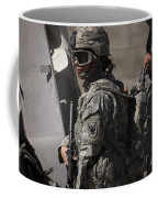 Woman Soldier Conducts A Combat Coffee Mug