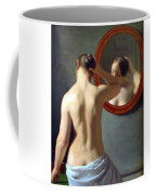 Woman Standing In Front Of A Mirror 1841 Coffee Mug