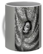 Woman Surrounded By Cloth Of Paisley Prints Coffee Mug