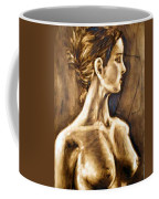 Woman Coffee Mug by Thomas Valentine