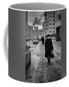 Woman Walking On Path In Russia Coffee Mug