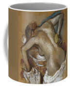 Woman Washing Her Back With A Sponge Coffee Mug by Edgar Degas