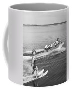 Woman Water Skiing Coffee Mug
