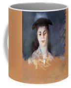 Woman Wearing A Hat With Silk Gauze Coffee Mug