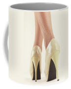 Woman Wearing High Heel Shoes Coffee Mug