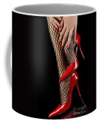 Woman Wearing Red Sexy High Heels Coffee Mug