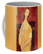 Woman With A Fan Coffee Mug by Amedeo Modigliani