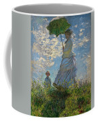 Woman With A Parasol, Madame Monet And Her Son, Claude Monet Digitally Enhanced Coffee Mug