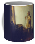 Woman With A Pearl Necklace Coffee Mug