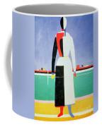 Woman With A Rake Coffee Mug by Kazimir Severinovich Malevich