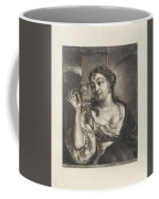 Woman With A Rose Coffee Mug