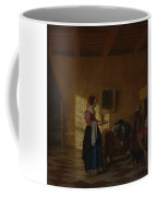 Woman With A Water Pitcher And A Man By A Bed The Maidservant Coffee Mug