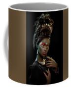 Woman With Beehive Hairstyle And Jewelry Headdress Coffee Mug