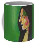 Woman With Black Lipstick Coffee Mug