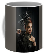 Woman With Black Metallic Headdress Coffee Mug