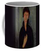 Woman With Blue Eyes Coffee Mug by Amedeo Modigliani
