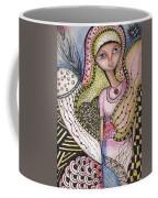 Woman With Large Eyes Coffee Mug by Prerna Poojara