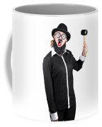 Woman With Male Costume Holding Mallet Coffee Mug