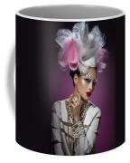 Woman With Pink And White Headpiece In White Dress Coffee Mug