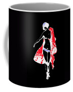 Woman With Red Cape - And Not Much Else Coffee Mug