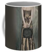 Woman With Suitcase Coffee Mug