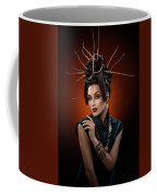 Woman With Twig Headdress And Oriental Look Coffee Mug