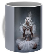 Woman With Twigs For Nails Coffee Mug