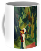 Women In A Park With A White Parasol Coffee Mug