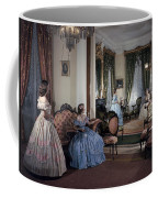 Women In Period Costumes Sit In An Coffee Mug by Willard Culver