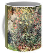 Women In The Flowers Coffee Mug by Claude Monet