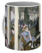 Women On A Cafe Terrace Coffee Mug by Edgar Degas