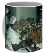 Women Pick And Pack Crab Meat Into Cans Coffee Mug by Robert Sisson