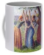 Women Planting Peasticks Coffee Mug