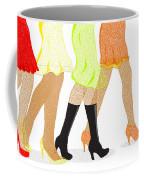 Womens Leg Dots Coffee Mug