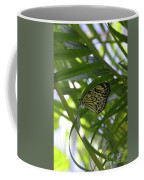 Wonderful Look At A Tree Nymph Butterfly In Foliage Coffee Mug