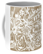 Wood And White Floral- Art By Linda Woods Coffee Mug