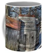 Wood  Barrel Oak Fermentation Whiskey Bourbon Cask Winter Snow Wood Faust Park Coffee Mug