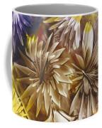 Wood Carved Dahlia Coffee Mug